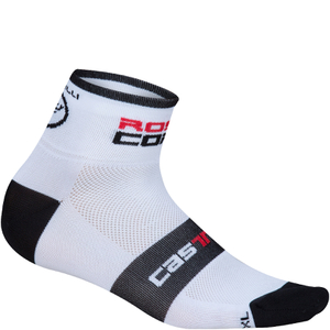 Castelli Rosso Corsa 6 Cycling Socks - White