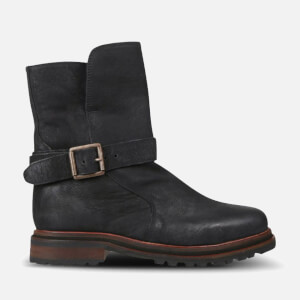 Hudson London Women's Tatham Calf Leather Buckle Boots - Black