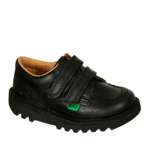 Kickers Kids' Kick Lo Velcro Strap Shoes - Black: Image 3