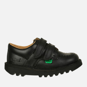 Kickers Kids' Kick Lo Velcro Strap Shoes - Black