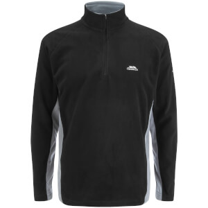 Trespass Men's Tron AirTrap100 1/2l Zip 2 Tone Fleece Jumper - Black