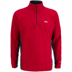 Trespass Men's Tron AirTrap100 1/2l Zip 2 Tone Fleece Jumper - Red