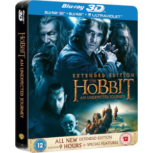 The Hobbit: An Unexpected Journey 3D (Extended Edition) - Steelbook Edición Limitada (con Versión 2D y Copia UltraVioleta)