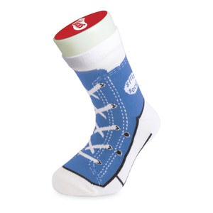 Silly Socks Kinder Sneaker - Blau - Gröβe 33-37