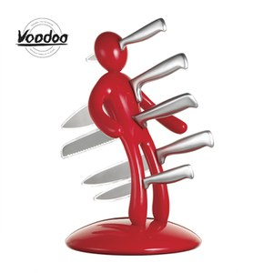 Raffaele Iannello Voodoo Knife Block with 5 Knives - Red