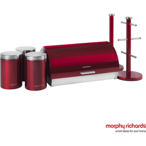 Morphy Richards 974100 6 Piece Storage Set - Red
