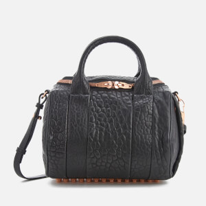 Alexander Wang Women's Rockie Pebble Leather Bag - Black with Rose Gold Hardware