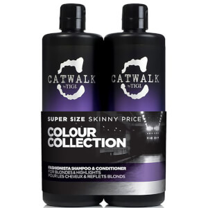 Duo soins cheveux blonds TIGI Catwalk Fashionista Violet Tween