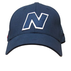New Balance Unisex Yankey 6 Panel Fitted Baseball Cap - Cotton Spandex Navy/White
