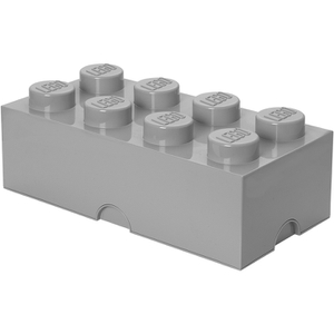 Brique de rangement LEGO® grise 8 tenons