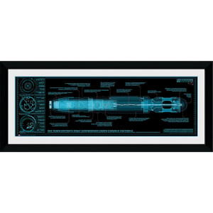 "Doctor Who Sonic Screwdriver - 30"""" x 12"""" Framed Photographic"