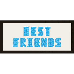 "GB Cream Mount Best Friends Photo Font - Framed Mount - 12"""" x 30"""