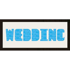 GB Cream Mount Wedding Photo Font - Framed Mount - 12
