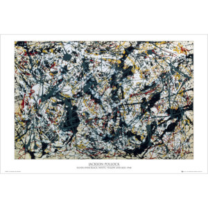 Pollock Silver on Black - Maxi Poster - 61 x 91.5cm