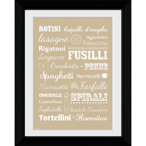 Pasta Types - Collector Print - 30 x 40cm