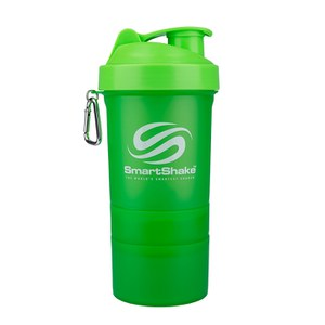 Smartshake 600ml Multi Storage Shaker Bottle - Neon Green