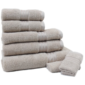 Restmor 100% Egyptian Cotton 7 Piece Supreme Towel Bale Set - Latte (500gsm)
