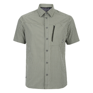 Berghaus Men's Lawrence Short Sleeve Shirt - Green/White Check