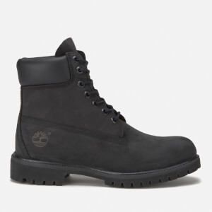 Timberland Men's Icon 6 Inch Premium Leather Lace Up Boots - Black