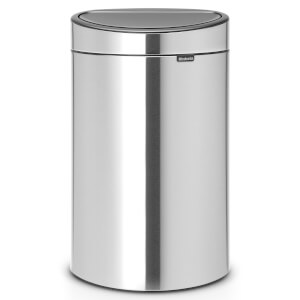 Brabantia 40 Litre Fingerprint Proof Touch Bin - Matt Steel