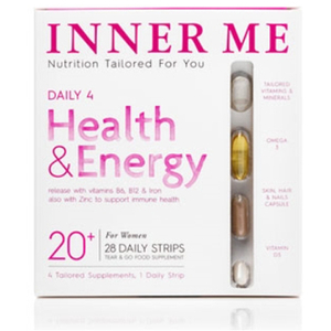 Inner Me Daily 4 Tailored Supplements - För kvinnor 20+