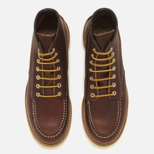 Red Wing Men's 6 Inch Moc Toe Leather Lace Up Boots - Briar Oil Slick: Image 2