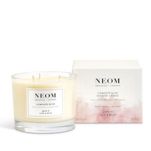 Vela Aromática de Luxo Organics Complete Bliss Luxury da NEOM