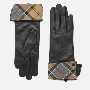 Barbour Lady Jane Leather Gloves - Black