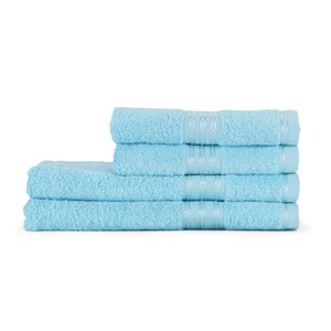 Restmor 100% Egyptian Cotton 4 Piece Supreme Towel Bale Set (500gsm) - Aqua