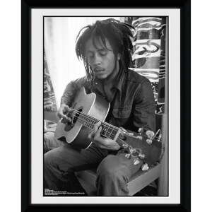 Bob Marley Guitar - 8x6 Framed Photographic