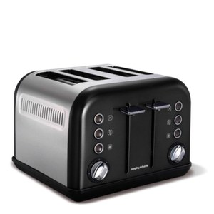 Morphy Richards 242002 New Accents 4 Slice Toaster - Black