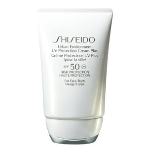 Suojaava Shiseido Urban Environment UV Protection Cream Plus -aurinkovoide, SPF50 (50ml)