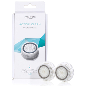 Magnitone London Active Clean Brush with Skin Kind Bristles (Set of 2): Image 1