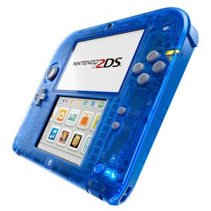 Nintendo 2DS Transparent Blue + Pokémon Alpha Sapphire: Image 3