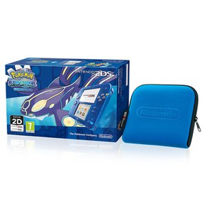 Nintendo 2DS Transparent Blue + Pokémon Alpha Sapphire: Image 1