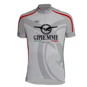 Pella Gipiemme Short Sleeve Cycling Jersey - Grey