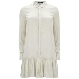 VILA Women's Binna Shirt Dress - Pristine