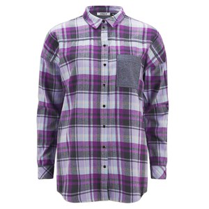 ONLY Women's Sade Check Shirt - Silver Pink