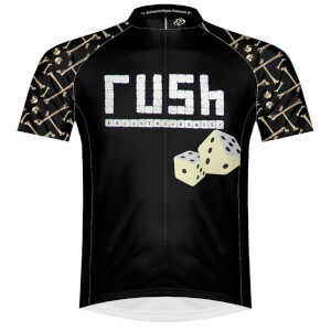 Primal Rush Roll The Bones Short Sleeve Jersey - Black/White/Yellow