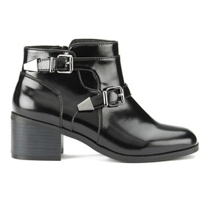 Ravel Women's Maine Patent Leather Ankle Boots - Black