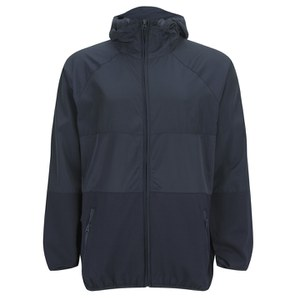 French Connection Men's Hooded Running Jacket - Blue