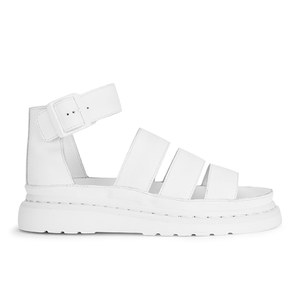 Dr. Martens Women's Shore Clarissa Chunky Strap Leather Sandals - White Softy