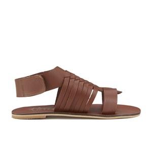 Ravel Women's Missouri Weave Flat Sandals - Tan