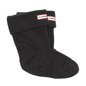 Hunter Unisex Short Fleece Welly Socks - Black