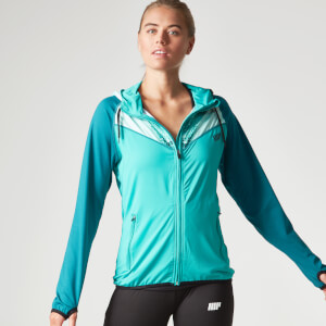 Myprotein Women's Printed Panel Zip Through Hoody - Teal