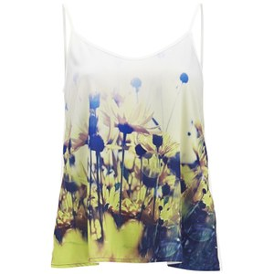 Vero Moda Women's Daisy Floral Top - Yellow Daisy