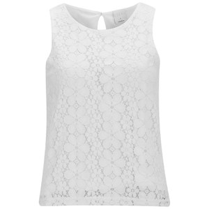 Vero Moda Women's Floral Lace Top - Snow White