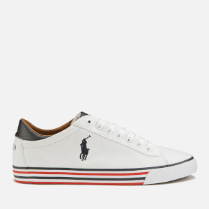 Polo Ralph Lauren Men's Harvey-Ne Canvas Trainers - Pure White/Newport Navy