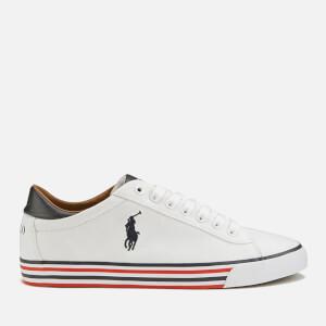 Polo Ralph Lauren Men's Harvey-Ne Canvas Trainers - Pure White/Newport Navy