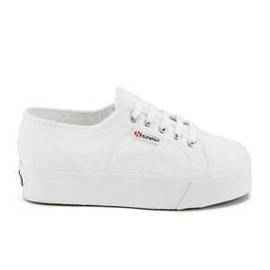 Superga Women's 2790 Linea Up Down Flatform Trainers - White